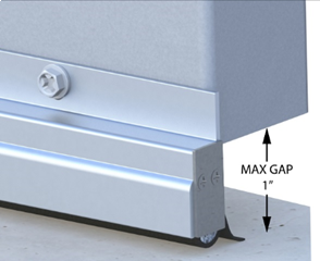 Low-Profile Rodent Proof Door Sweeps