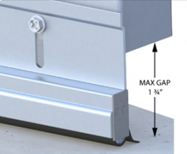 """Versa-Line Rodent Proof Door Sweeps, Mill Finish, No Cover - For Gaps up to 1.75"""""""