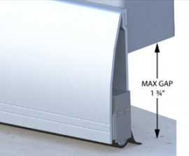 """Versa-Line Rodent Proof Door Sweeps with Cover - For Gaps up to 1.75"""""""